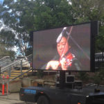 EM600 LED screen trailer for event hire
