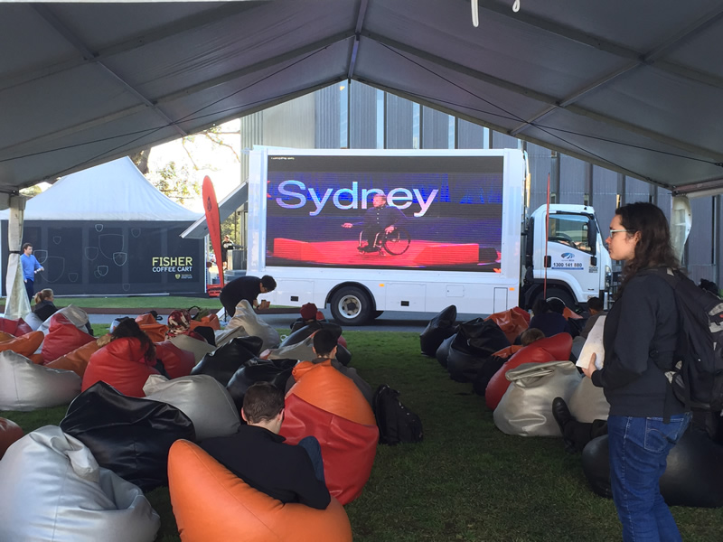 LED screen truck is ideal for events and outdoor advertising